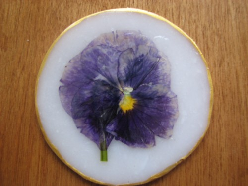 OOAK Pansy Suncatcher wall art